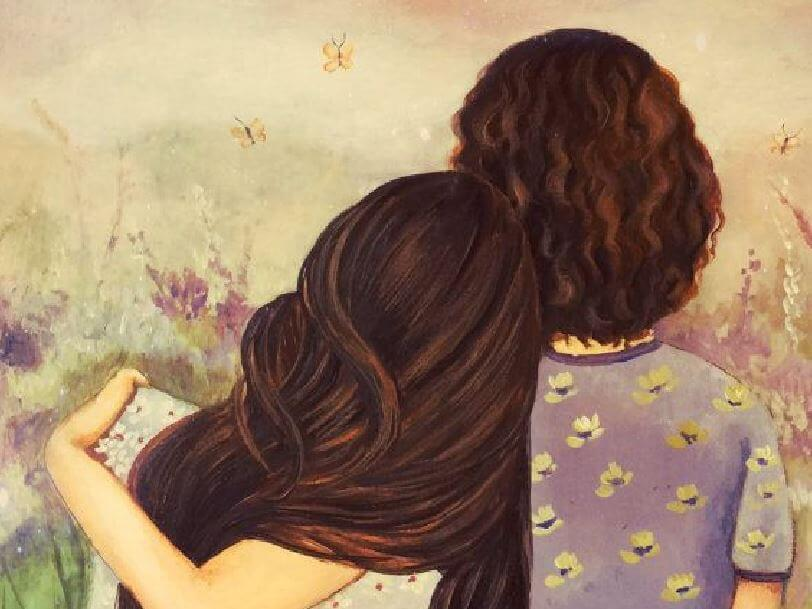 Картинки мама и дочь со спины, данке